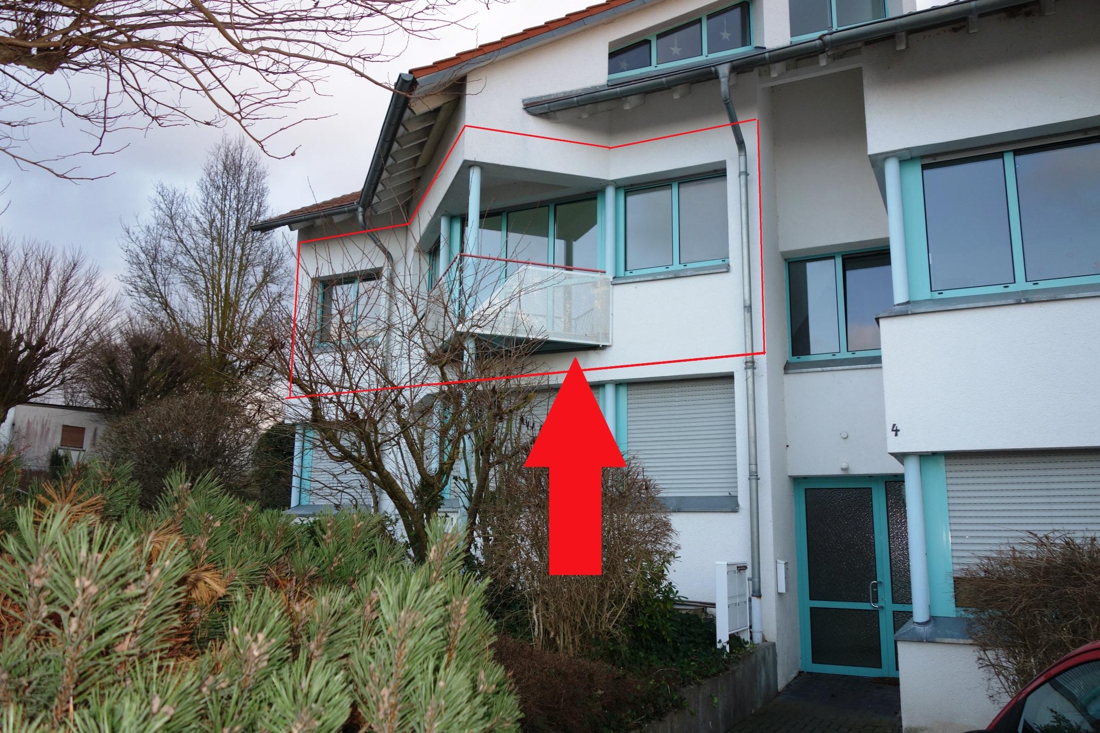Super 2-Zimmer-Architekten-Wohnung , sonnenhell mit kl. Balkon in Oberneisen