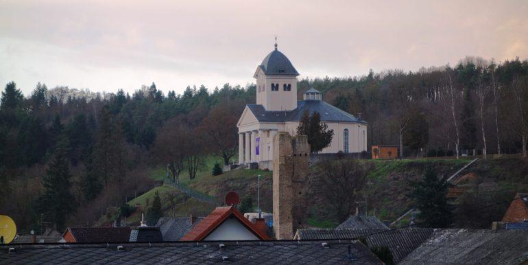 Blick auf Rundkirche 11.Jahrh.