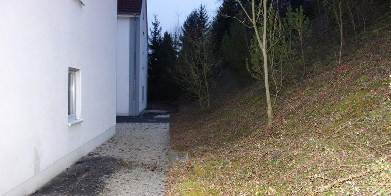 Grüngürtel hinter dem Haus