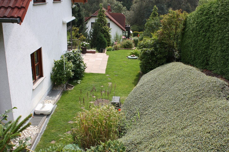 blick auf die terrasse jhw immobilien. Black Bedroom Furniture Sets. Home Design Ideas